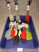 20 x assorted Zeal ergonomic spatulas in