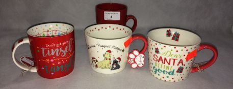 23 x assorted Santa and other mugs RRP £