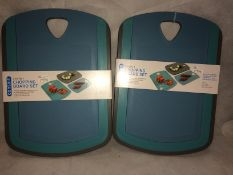 2 x Contain 3-in-1 chopping board sets R