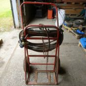Gas bottle trolley with Oxy / Acetylene hoses