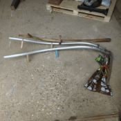 2 Long Handles Scythes and a spare handle
