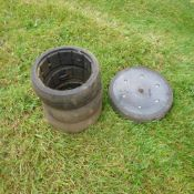 3 x New beet hoe/drill tyres 300/100 plus Farm flex rubber sheet