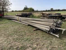 "Qty 2"" AL irrigation pipes,"