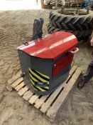 Agri weld tractor tool box/weight (21130118) 160kg 3 years old