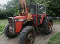 Massey 595 4x4 turbo. Has had a new water pump. Back tyres are good front ones are worn.