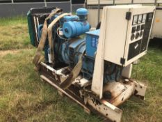 Perkins 60 KVA Generator. No battery included.