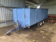 9T R&R Tipping Grain Trailer Twin axle Located near Beccles,