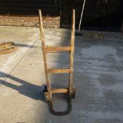 Wooden sack barrow.