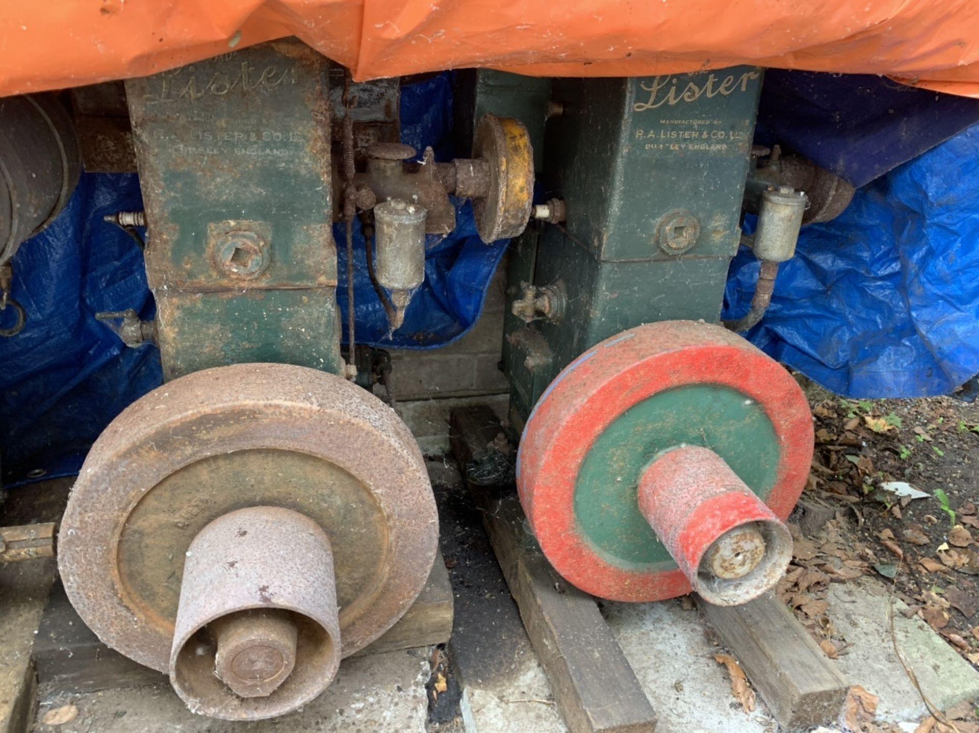 2 x Lister engines. Stored near Gorleston, Norfolk No VAT on this item.