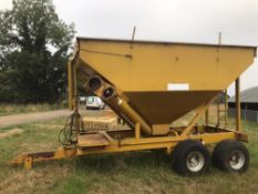 Richard Western feed/corn trailer, DF10 model, 10t capacity, twin hopper Stored near Shropham,
