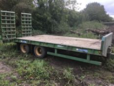 Chieftian Low Loader Trailer (2009). Lights LED and working, brakes need attention.