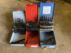 3 boxes of drill bits. Stored near Gorleston, Norfolk. No VAT on this item.