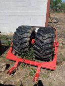 Allance Press Wheels in frame 550.145-22.5. Stored near Diss, Norfolk.