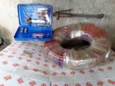 Oxygen/Acetylene cutting gear/ welding full reel of hoses. Stored near Belton, Norfolk.