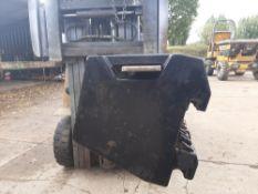 8 Massey weights 45 kgs each. Stored near Eye, Suffolk.