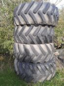 Alliance 540/65 R 30 tyres, they have been on a fast track.