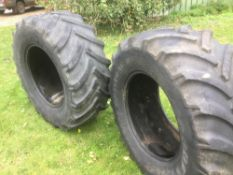 2 used tyres - 1 Goodyear 540/650 R28 - 30%. Stored near Diss, Norfolk.