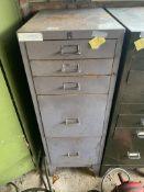 5 drawer metal cabinet. Stored near Gorleston, Norfolk. No VAT on this item.