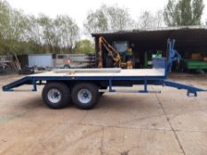 New build beaver tail trailer built on a second hand Salop chassis,