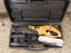 JCB 230 volt reciprocating saw. Stored near Eye, Suffolk.