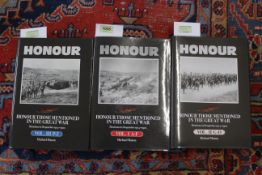 """""""Honour Those Mentioned in Despatches in the Great War"""", volumes 1, 2 and 3, by Michael Maton,"""