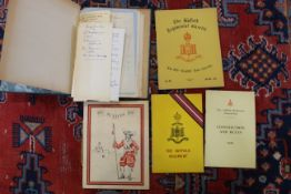 An interesting file relating to the colours of The Suffolk Regiment,