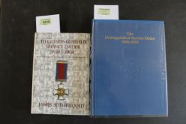 """""""The Distinguished Service Order 1886-1923"""", reprint by Haward,"""