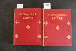 """""""Deeds That Thrill the Empire"""", volumes 1 and 2 by Hutchinson, now much sort after,"""