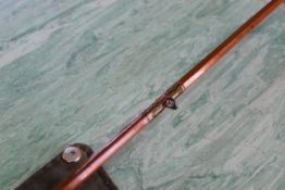 Three vintage split cane fly fishing rods, one Milward, one Octopus,