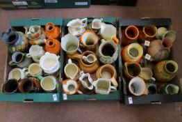 Three boxes of Art Deco jugs