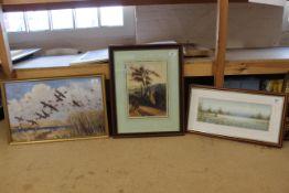 """A framed Peter Scott print, 21 1/2"""" x 13 1/2"""","""