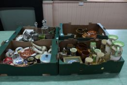 A selection of Devon Cottage ware including biscuit barrel, cheese dishes,