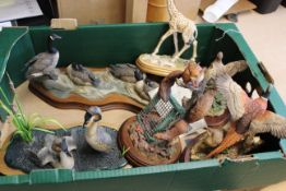 Various Border Fine Art animal figure groups including country birds,