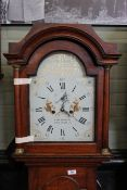 An oak cased early 19th Century long case clock, 8 day movement,