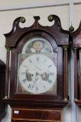 A North Country early 19th Century mahogany inlaid long case clock,