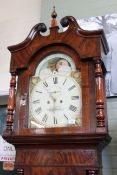 An early Victorian mahogany long case clock of large proportions,