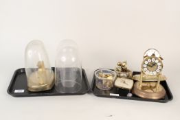 Two glass clock domes plus mixed parts,