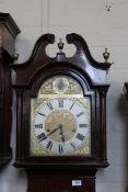 A 1920's mahogany long case clock in the Georgian style,