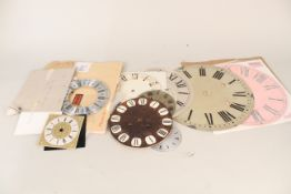 Mixed clock faces in various sizes