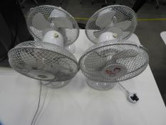 *Four Desktop Oscillating Fans