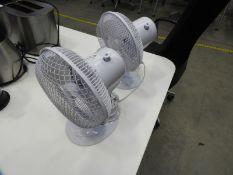 *Two White Oscillating Desktop Fans