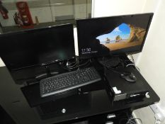 *Dell Desktop PC with Two Flatscreen Monitors, Keyboard and Mouse