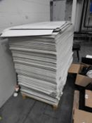 *Pallet Containing Approx 1 Tonne of White Cardboard Sheets