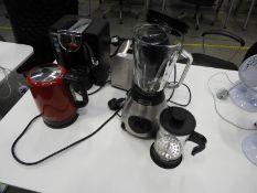 *Assorted Kitchen Equipment Including Bosch Coffee Maker, Russell Hobbs Kettle, Tower Blender, & Mor