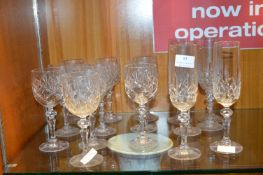 Sixteen Lead Crystal Wine Glasses
