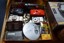 Cameras, Sony Walkman, etc.