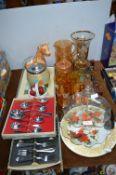 Decorative Glassware, Cutlery, etc.
