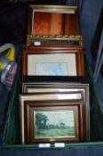 Crate of Framed Prints etc.