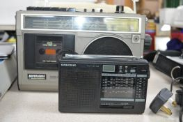 Two Vintage Radios; Superscope Radio Cassette and a Grundig Yacht Boy