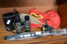 Binoculars, Fishing Equipment, etc.